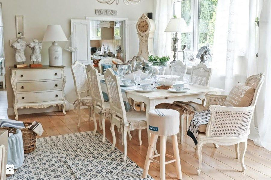 Best of dekoracje w stylu Hampton zdjęcie od BelleMaison · Shabby ChicDecorDining RoomsDecoratingDining RoomDecorationDecoDining SetsDecorations Contemporary - Contemporary how to decorate a dining room table Fresh