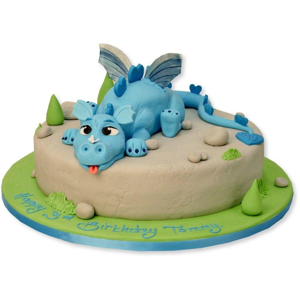 Blue dragon cake dragon cakes dragon birthday cakes