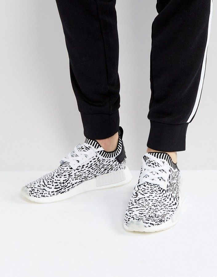 91635ebed0ab5 adidas Originals NMD R1 Primeknit Sneakers In White BZ0219 Klick to see the  Price  men  fashion  male  style  menfashion  menwear  menstyle  clothes   boots ...
