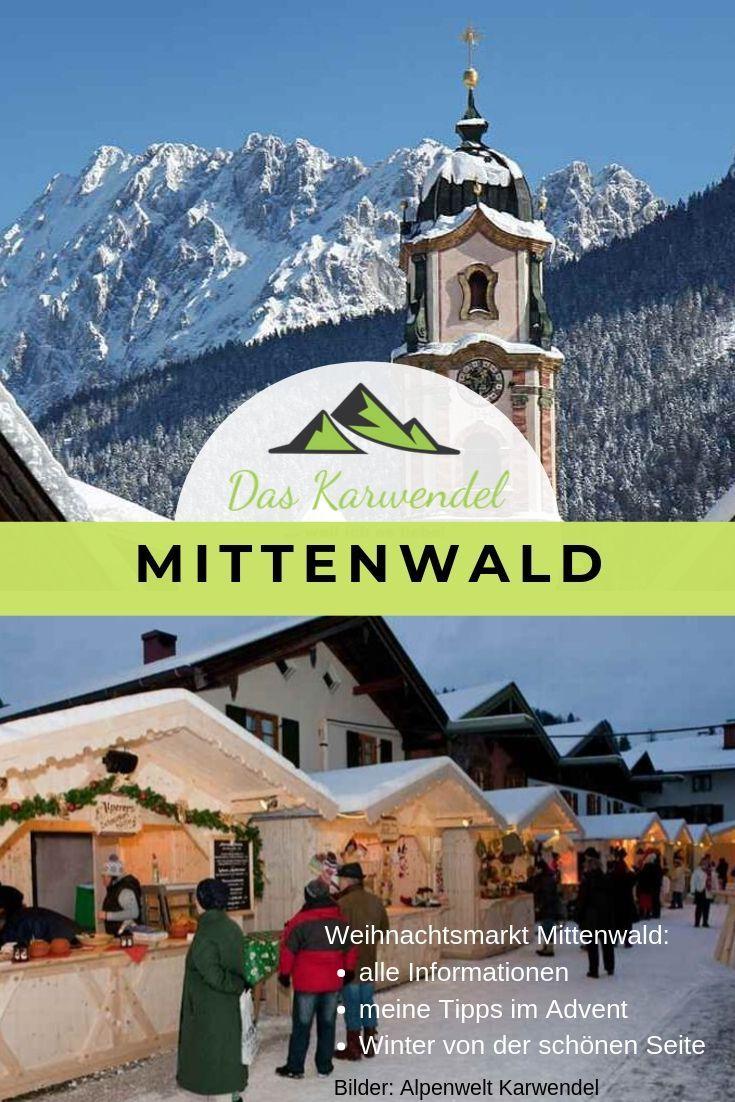 WEIHNACHTSMARKT MITTENWALD Bayern Termin & Programm
