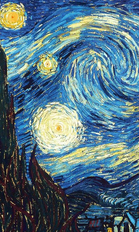 Van Gogh Starry Sky Wallpaper For Windows Phone 7 Appsfuze Starry Night Van Gogh Starry Night Wallpaper Van Gogh Wallpaper