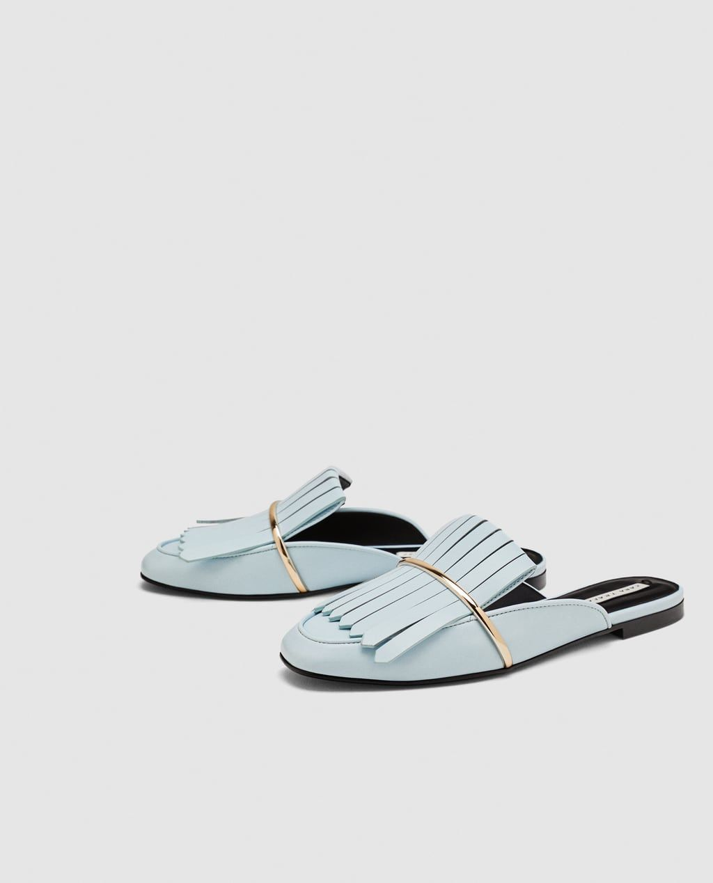 cefc0a21f3fc2 Image 4 of FLAT MULES WITH FRINGED DETAIL from Zara | Closet, if ...