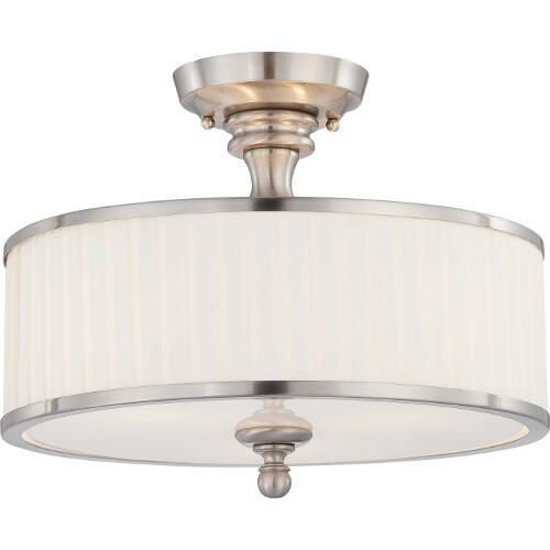 Nuvo lighting n604737 candice semi flush mount ceiling light nuvo lighting n604737 candice semi flush mount ceiling light brushed nickel at ferguson aloadofball Image collections