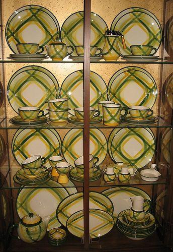 Vintage Vernon Kilns Gingham Pattern Charger