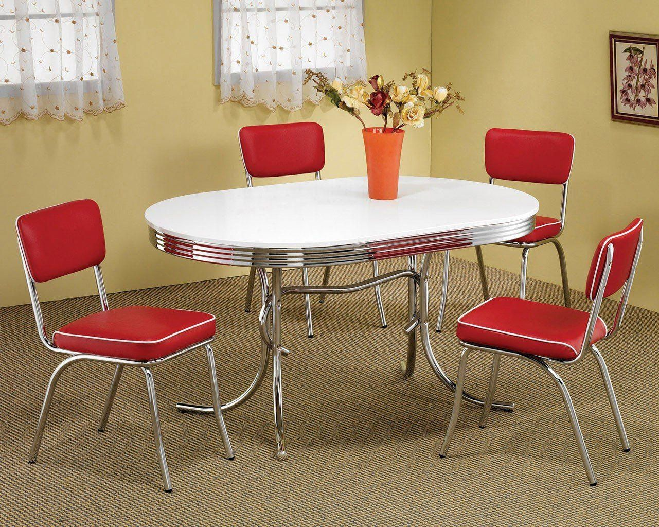 Retro Dining Room Set W Red Chairs Retro Dining Rooms Retro