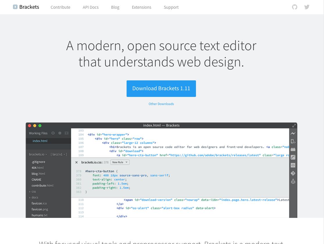Text Editor Open Source Code Web Design Understanding