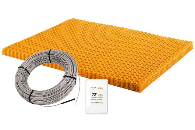 Ditra Heat E Kit In 2020 Installing Heated Floors Heated Floors Flooring
