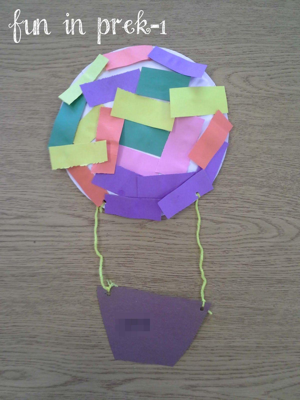 air transportation theme from fun in prek 1 art projects math