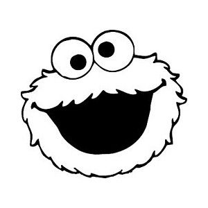 Cookie Monster Outline D Monster Coloring Pages Monster Cookies Cookie Monster Birthday