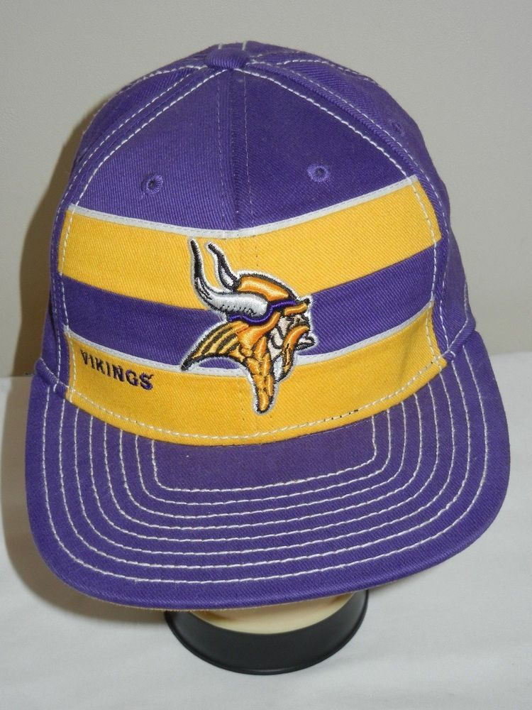 b1833f871 VTG Minnesota Vikings Reebok On Field fitted size S stripes  Reebok   MinnesotaVikings