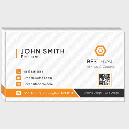 Hvac Business Cards Business Cards Printing For Professional Hvac