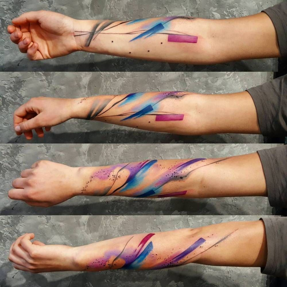 Abstract Tattoo On The Right Forearm Abstract Tattoo Best Sleeve Tattoos Sleeve Tattoos