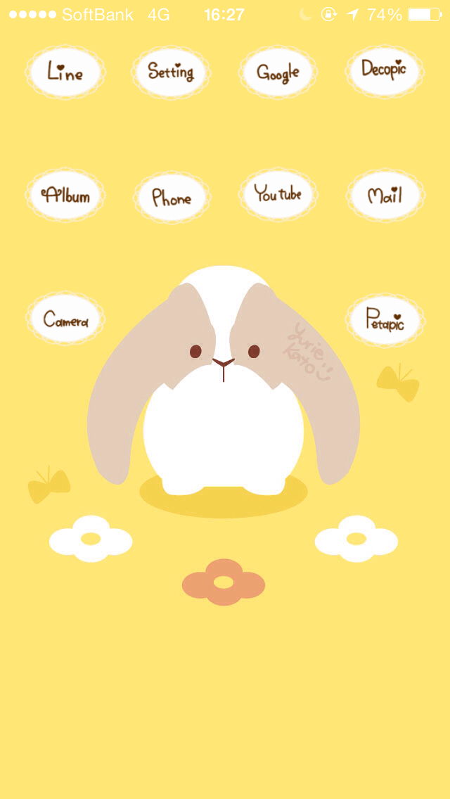 #CocoPPa #kawaii #rabbit #animal #flower