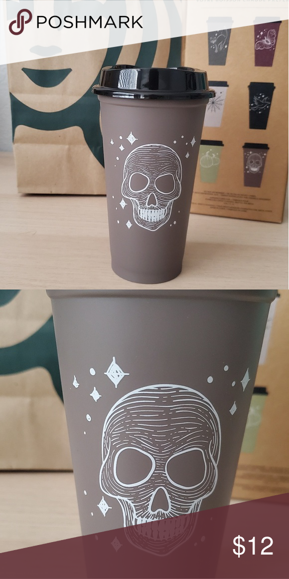 Starbucks Hot Cup Individial Grey Skull NWT (With images