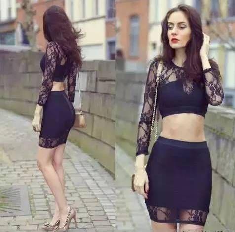 Fashion Style: Black Lace Outfit