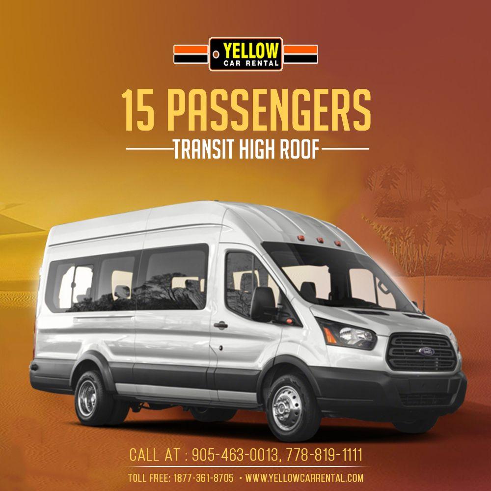 15 Passengers Van Yellow Car Car Rental 15 Passenger Van