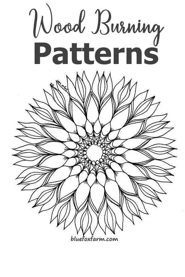 Wood Burning Patterns - mandala designs