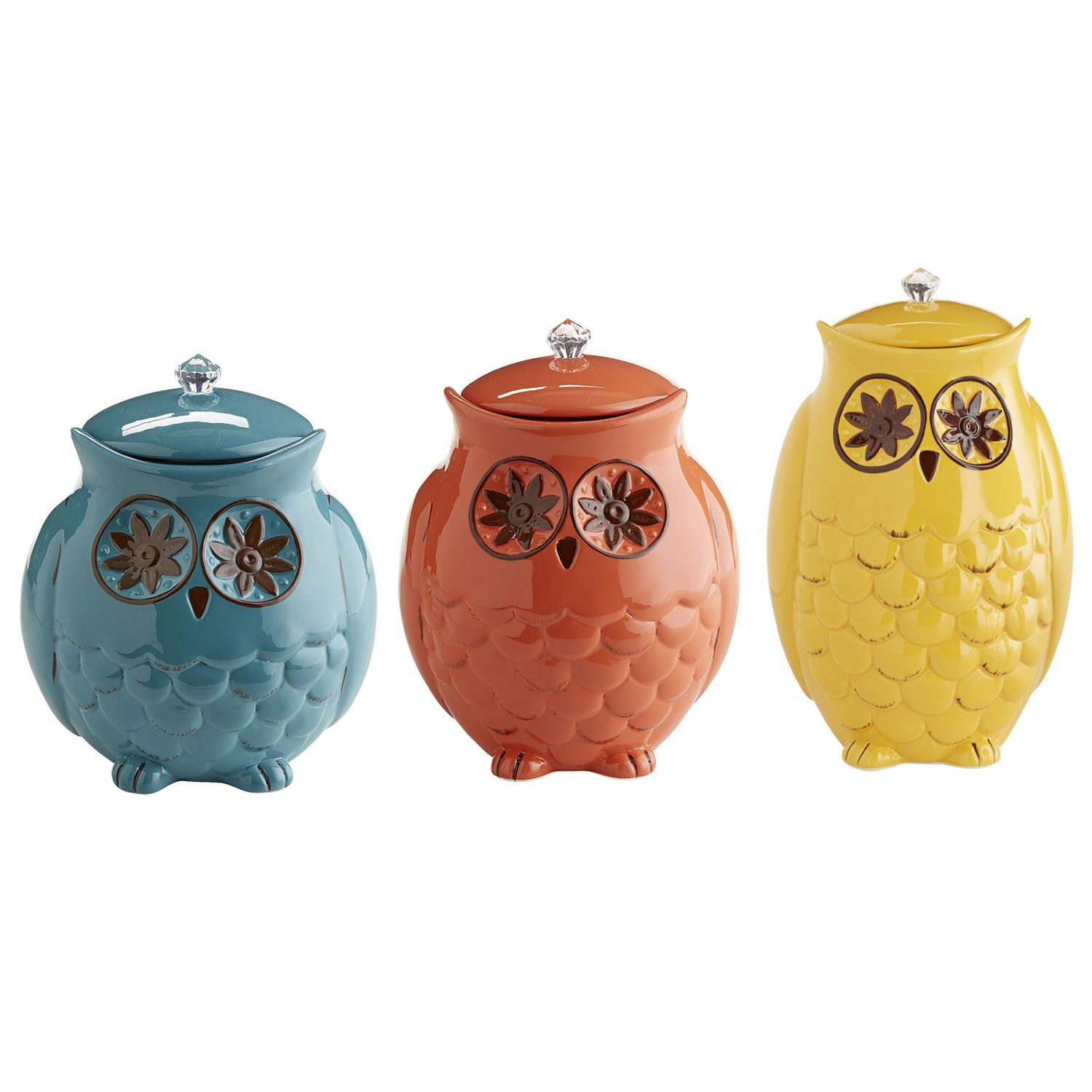 Starry Night Owl Canisters   Pier 1 Imports