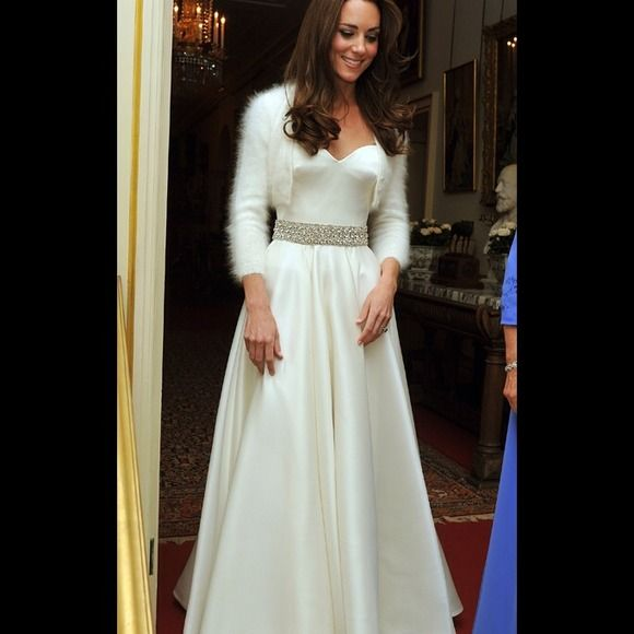 Reduced Abs Kate Middleton Inspired Reception Gown Allen B Schwarts