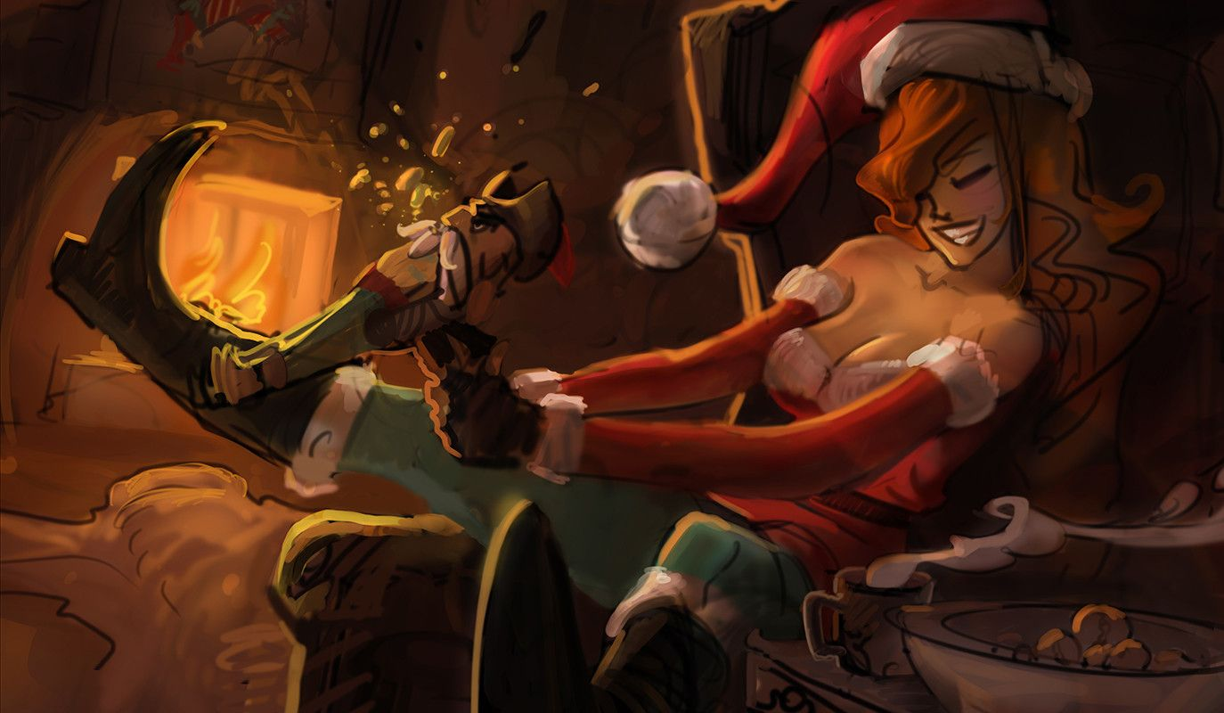 Artstation Candy Cane Miss Fortune Andrew Theophilopoulos Lol