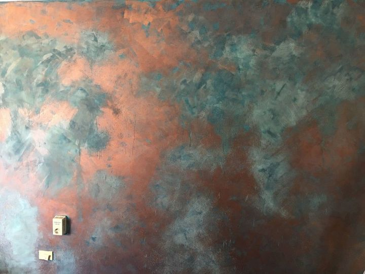 How to Paint a Faux Copper Feature Wall DIY