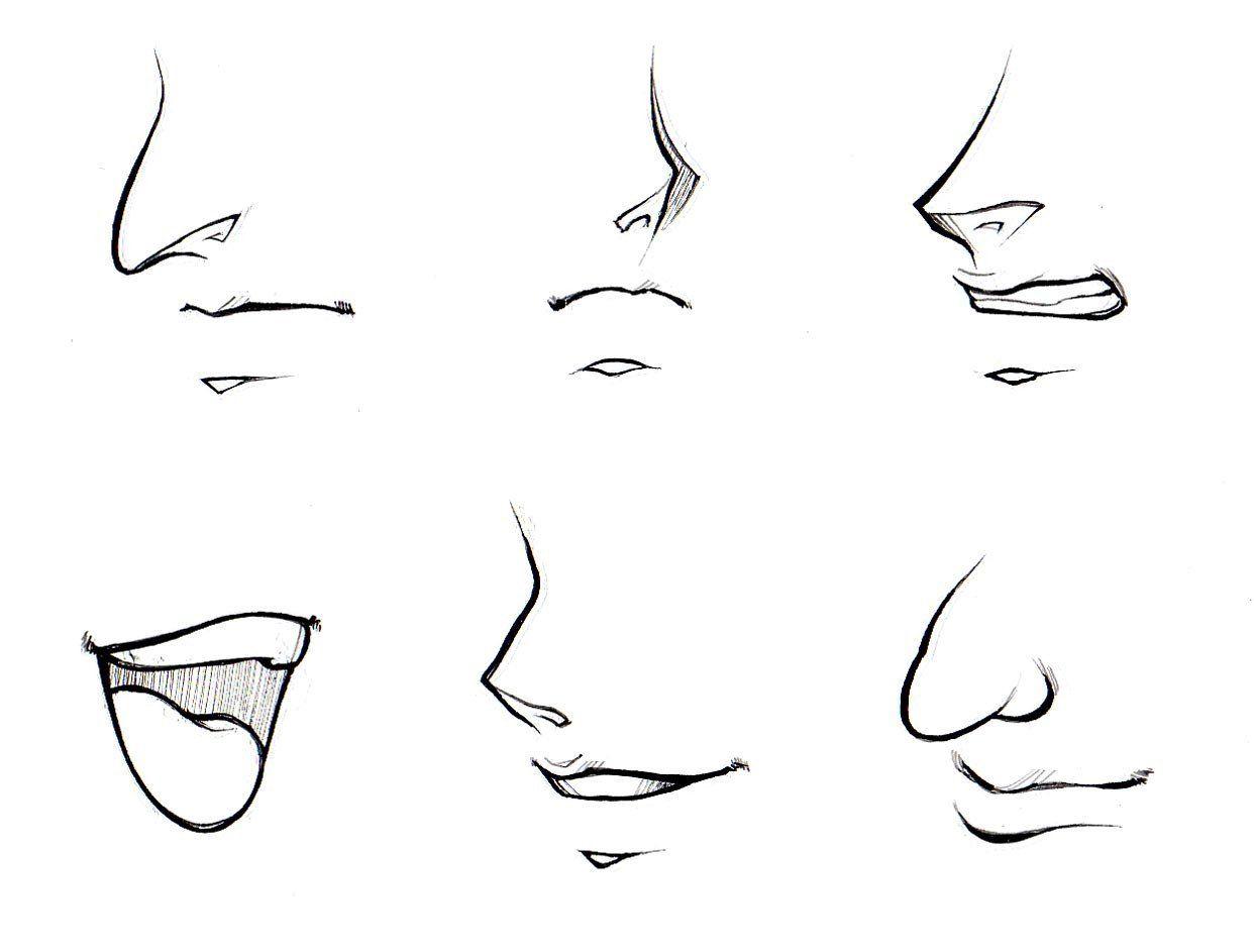 Nose Simple Sketch How To Draw Noses And Mouths Manga University Desenho De Rosto Desenhos De Pessoas Coisas Aleatorias Para Desenhar