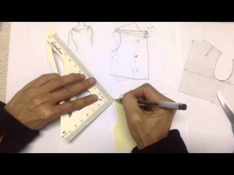 服裝打版教學-常用領型/ 水手領, 羅馬領& 荷葉領 - YouTube
