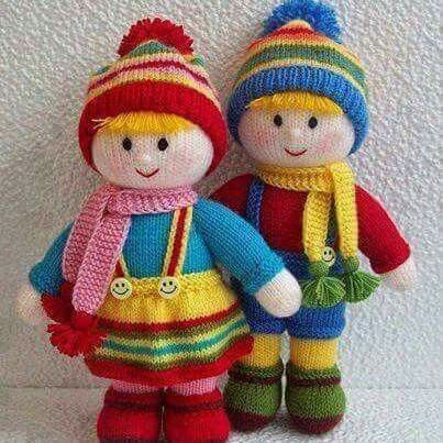 Knitting projects (With images) | Knitted doll patterns ...