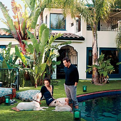 Old movie star homes home she shares with husband - Salt water swimming pools los angeles ...