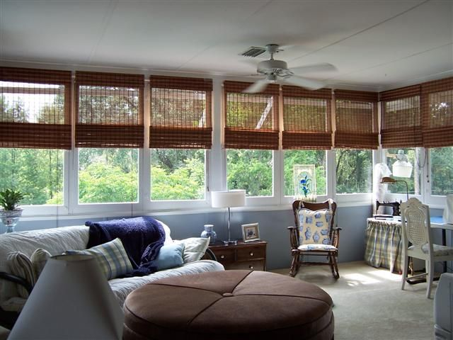 Bamboo Shades Sunroom Window Treatments Pinterest