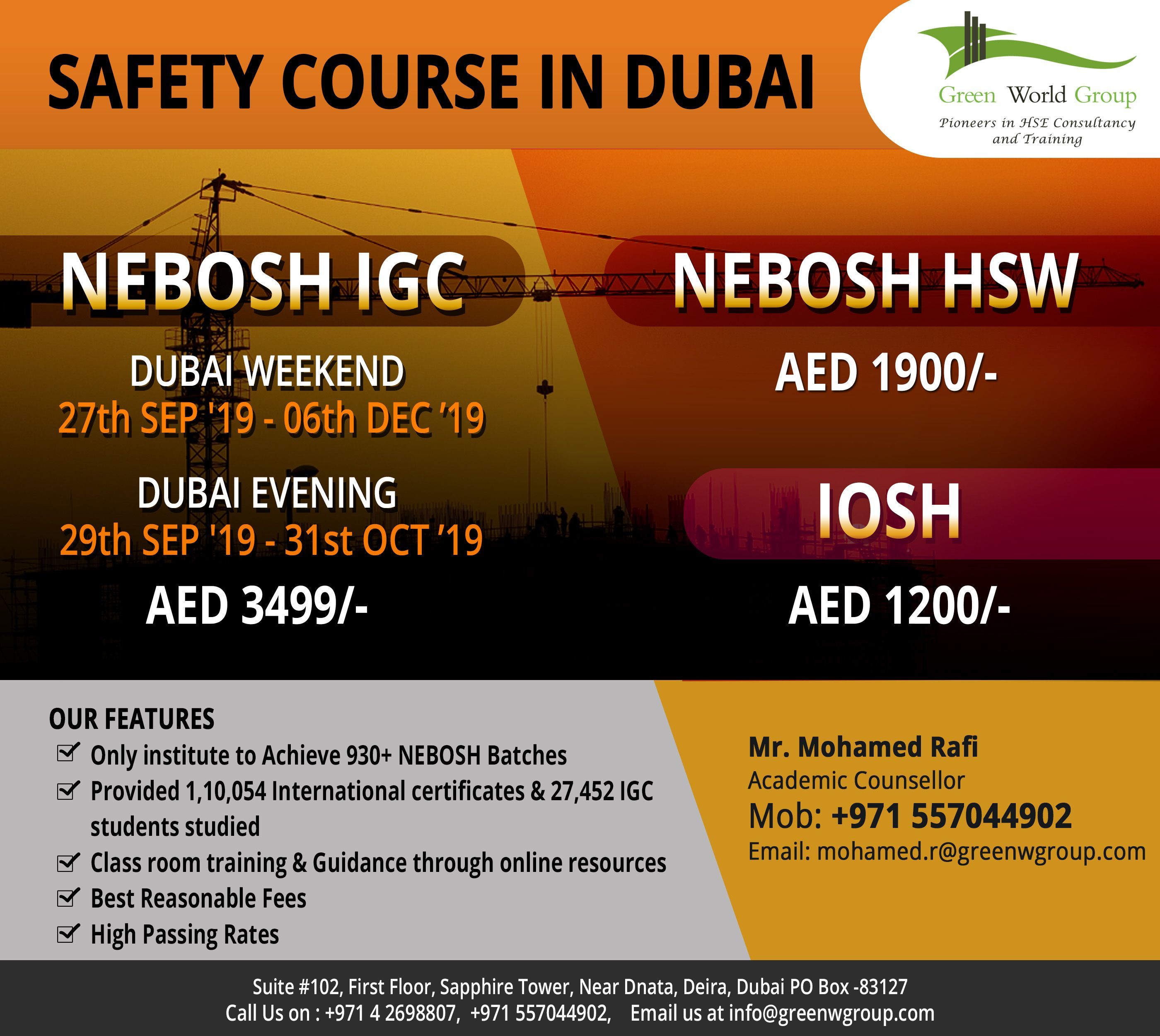 Join The Occupational Health And Safety Courses In UAE By