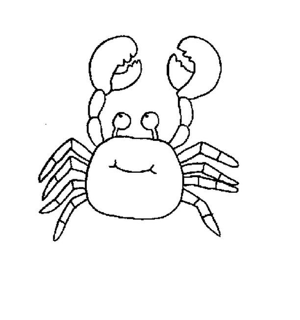 Crab Sea Animal Coloring Page For Kids Free Printable