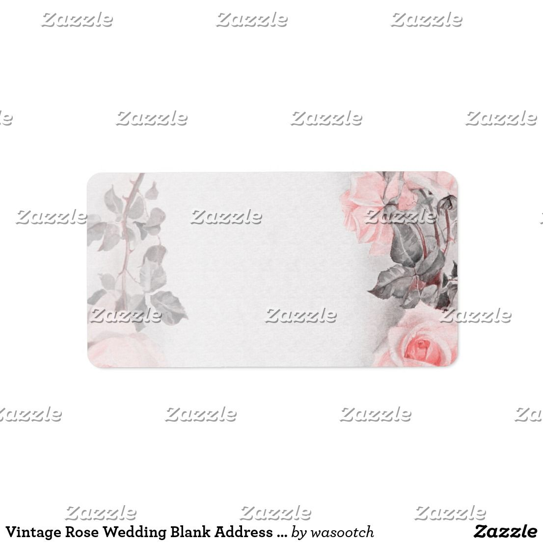 Vintage Rose Wedding Blank Address Labels Primrose Pink To Be Used For Your Invitations Or Just Use It As