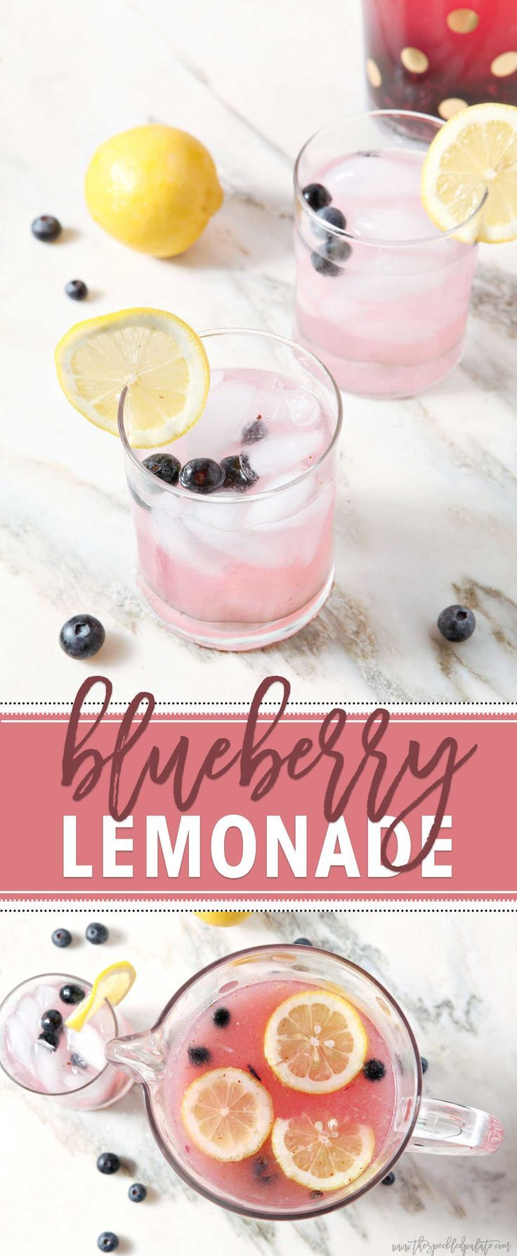 Large Batch Blueberry Lemonade #lemonadepunch