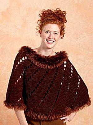 Crochet Swirl Poncho This free poncho pattern by fantastic designer ...