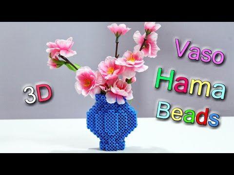 Vaso Per Fiori Con Hama Beads Perler Bead Flower Vase Youtube