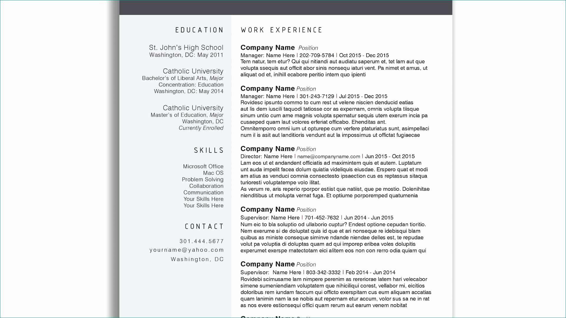 Free Elementary Resume Template Free Education Quotes Resume