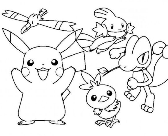 pokemon cartoon pikachu coloring pages