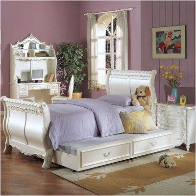 Marvelous Bundle 15 Pearl Sleigh Bedroom Collection 4 Pieces Size Download Free Architecture Designs Rallybritishbridgeorg