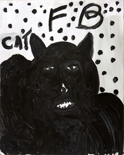 Freddie Brice  Cat  1993  acrylic on panel  30 x 24 in