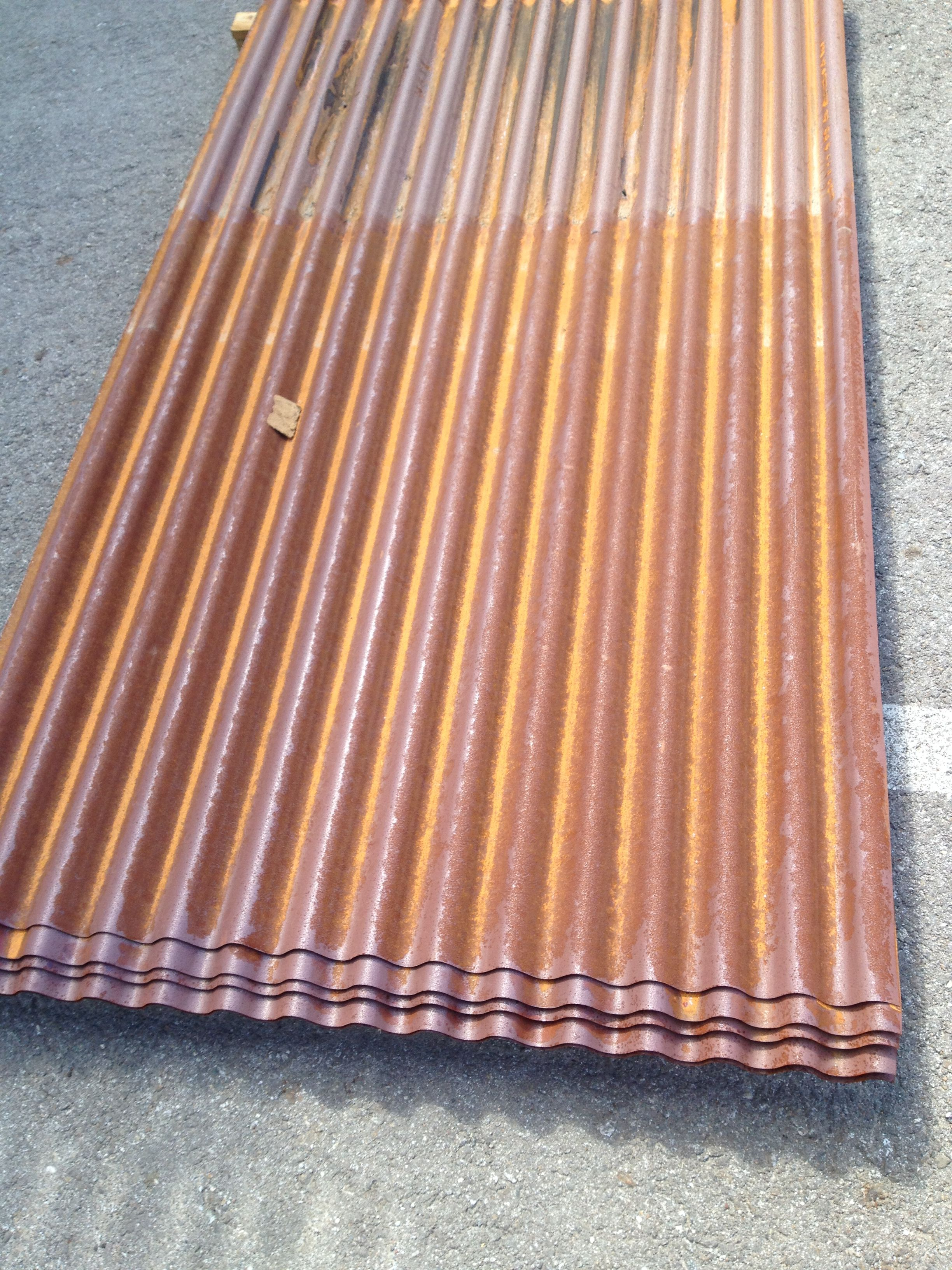 Rusted 7 8 Rib Corrugated Panels From Riverside Corrugated Www Rivcorr Com Metal Fence Panels Metal Fence Metal Panels