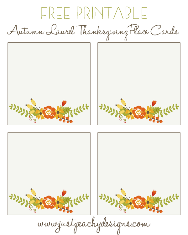 photo about Printable Thanksgiving Place Cards referred to as no cost printable thanksgiving vacation spot playing cards Only Peachy
