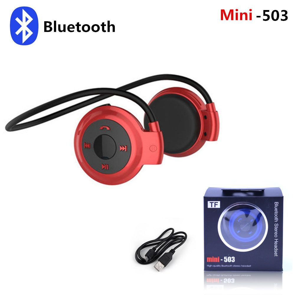 Mini 503 Ear-Hook Stereo Earphones Wireless Bluetooth Headset Sports  Headphone Support TF Card  faaae53c0c
