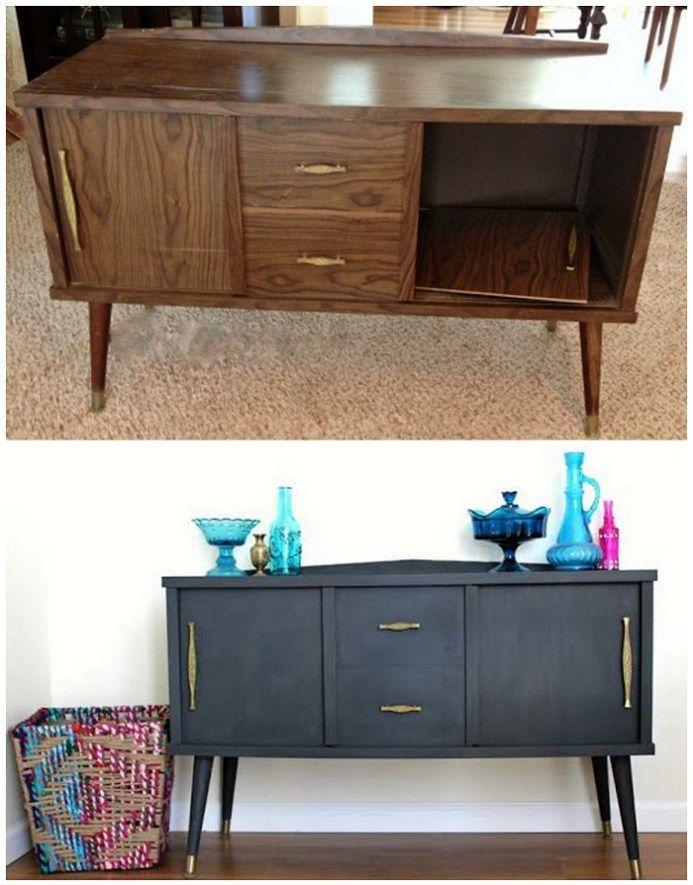 Antes y despues reciclar mueble pintura tiza colores - Pintura acrilica para muebles ...