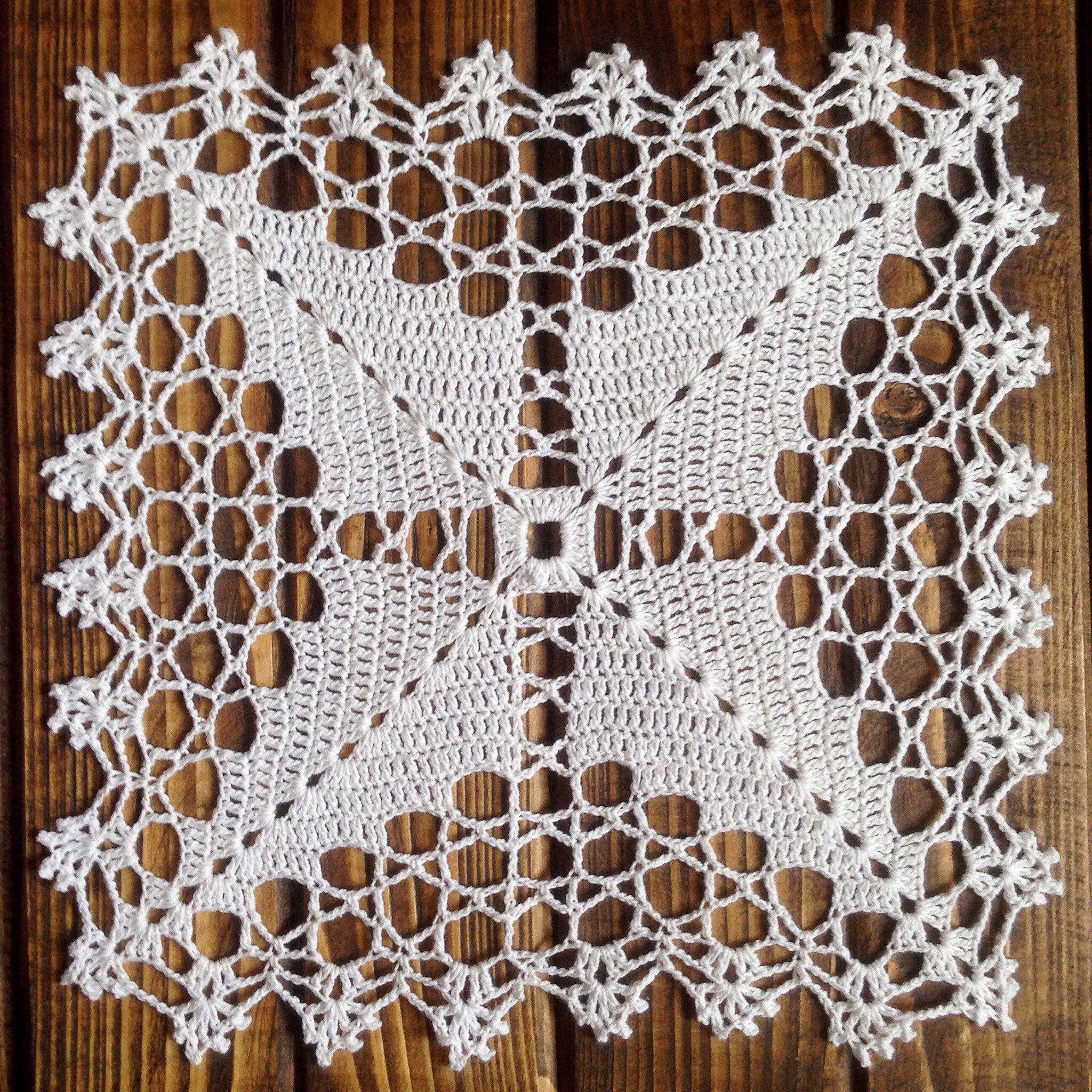 Doily crochet doily doilies set doilies white doily square doily table setting #decorateshop