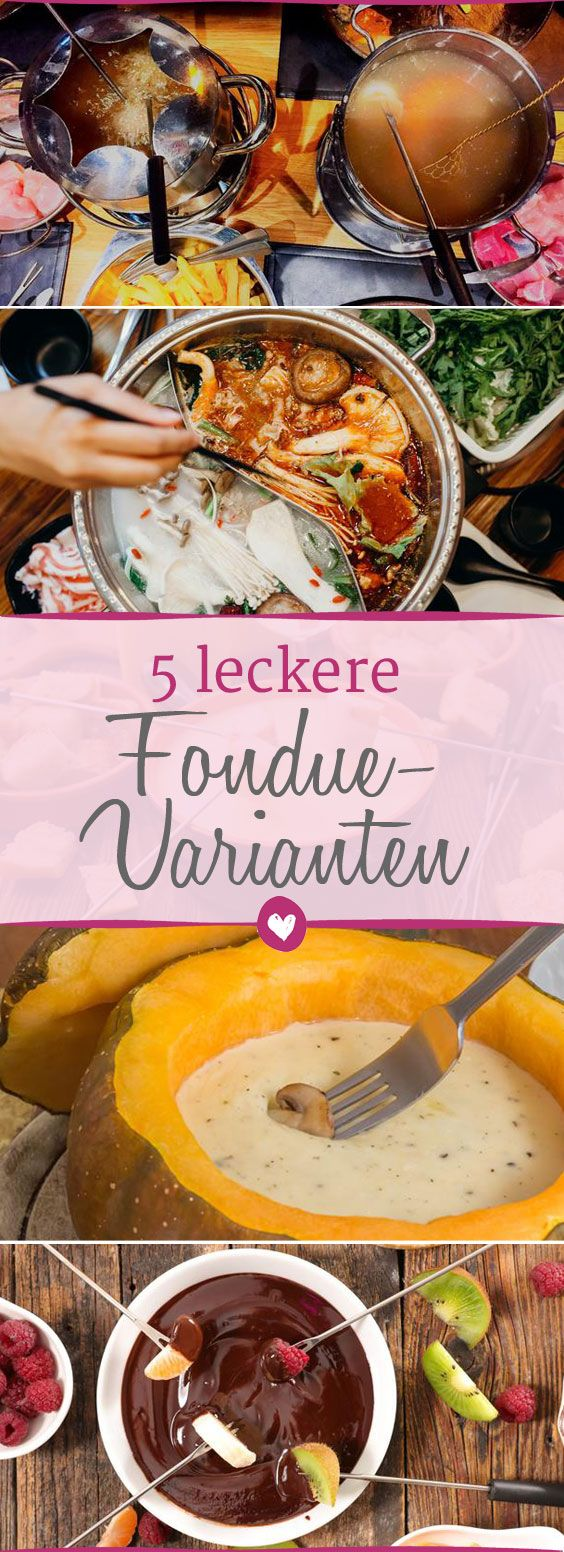 5 leckere Fondue-Variationen #chocolatefonduerecipes