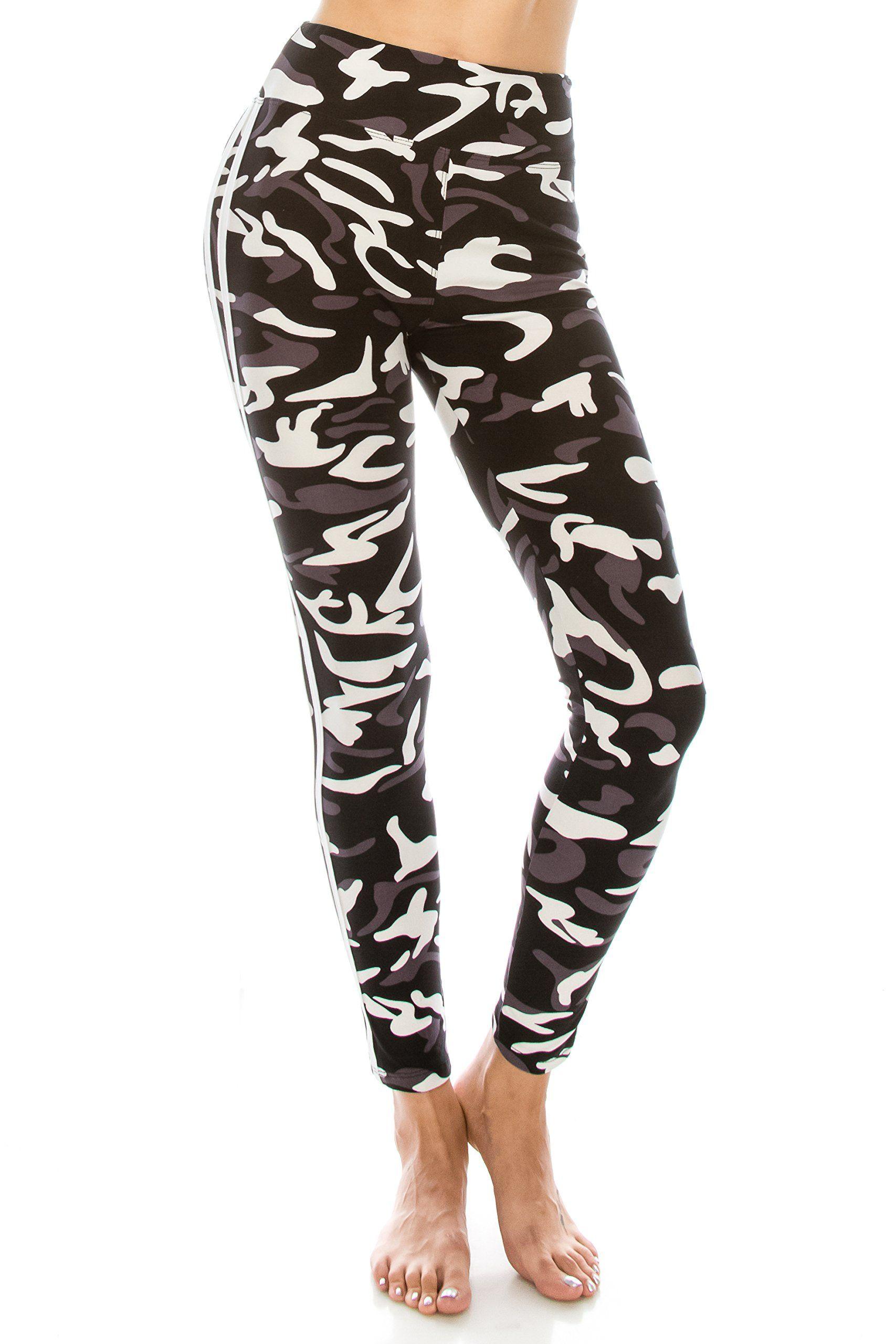 Soft Stretchy Camo Print Leggings
