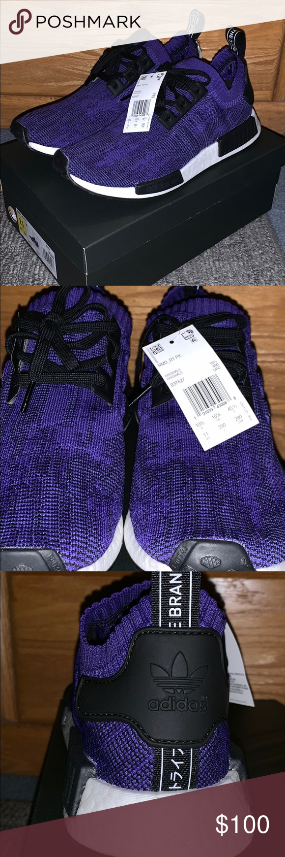 wholesale dealer 84ea9 4039c Adidas NMD R1 PrimeKnit Energy Ink Deadstock with tags and ...