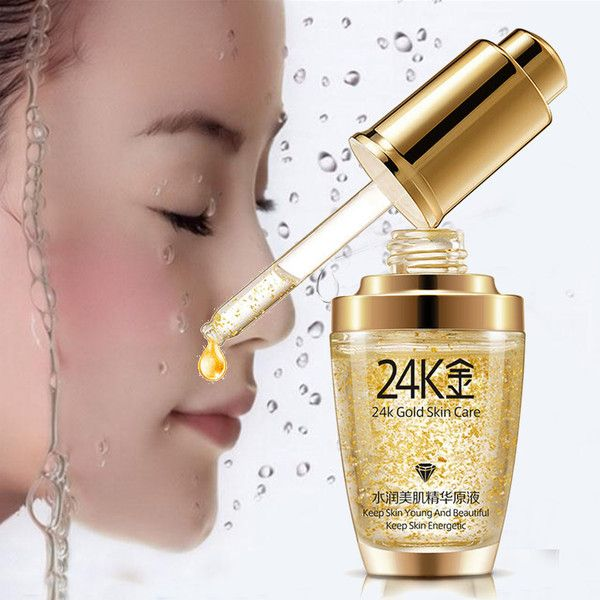 Bioaqua 24k Active Gold Face Serum Essence Anti Aging Anti Wrinkles 62 Hrk Liked On Polyvore Fea Face Glow Serum Reverse Aging Skin Anti Aging Skin Care