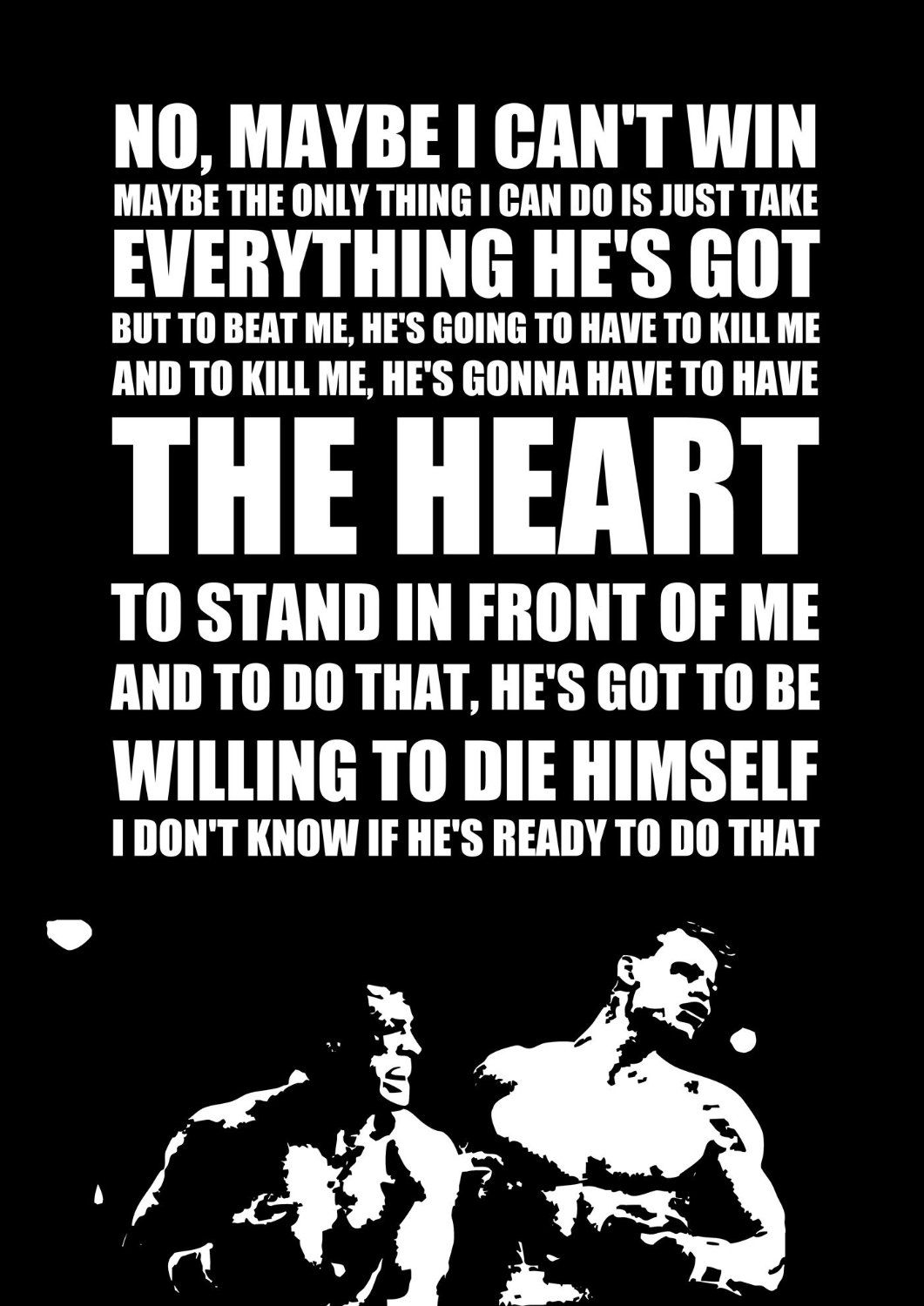 Rocky Quote Rocky 4 Inspired Motivational Inspirational Quote Poster A3 Amazon .